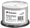 VERBATIM CD-R(50-pack)spindl AZO 52X 700MB WIDE SILVER INKJET PRINTABLE NON ID